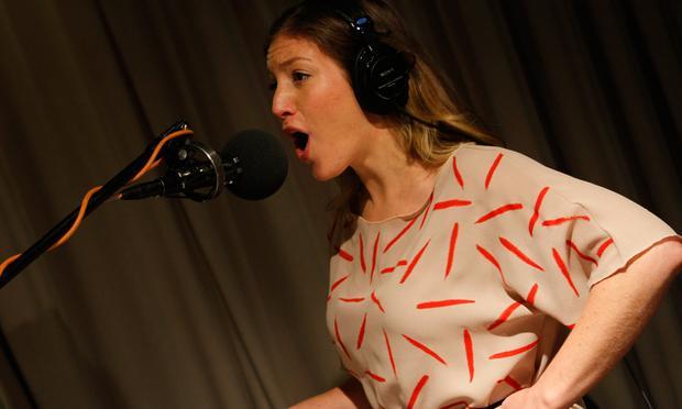 Ra Ra Riot's Rebecca Zeller performs in the Soundcheck studio.