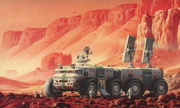 Cover art from 'Red Mars' by Kim Stanley Robinson