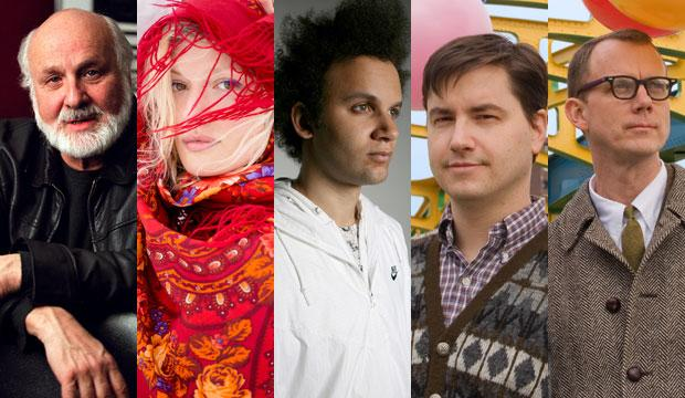 Hosts for Q2 Music's Sample Rate Marathon include: (from left to right) Morton Subotnick, Olga Bell (Noah Kalina), Tyondai Braxton (Grace Villamil) and Matmos (AJ Farkas)