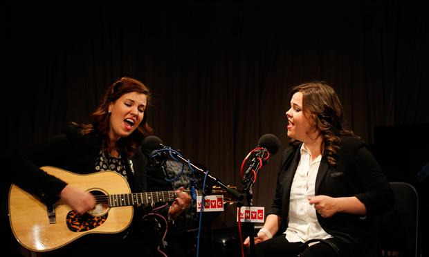 The Secret Sisters perform in the Soundcheck studio.