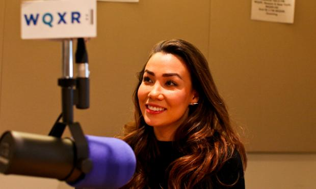 Soprano Sharleen Joynt in the WQXR studio