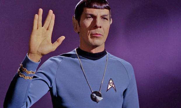 Leonard Nimoy as Mr. Spock in the original 'Star Trek' TV series.