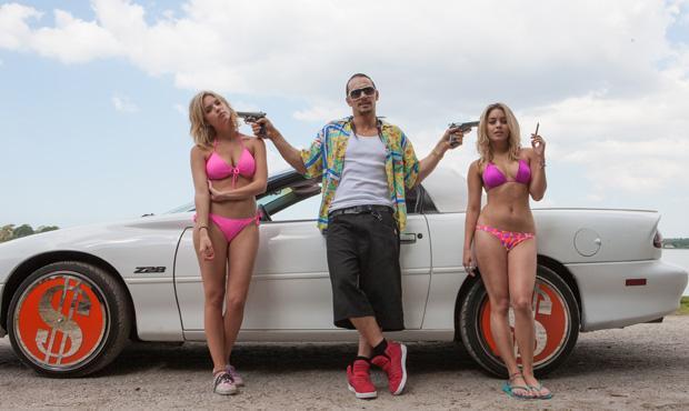 Ashley Benson, James Franco, and Vanessa Hudgens in Spring Breakers