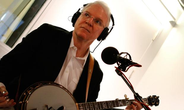 Steve Martin performs with Edie Brickell and the Steep Canyon Rangers in the Soundcheck studio.