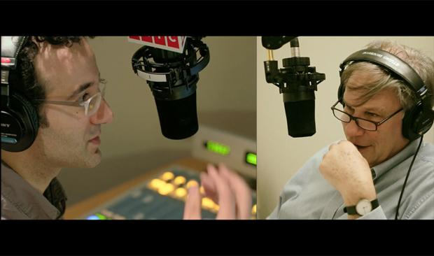 Jad Abumrad and Robert Krulwich in studio