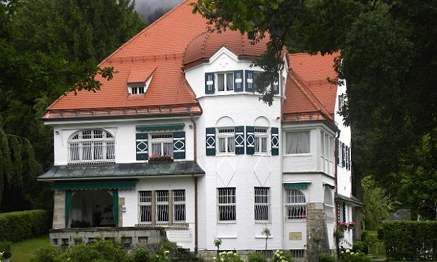Strauss's home in Garmisch, Germany