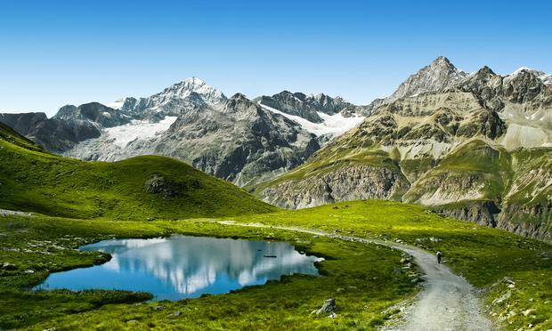 A Trail near the Matterhorn in the Swiss Alps