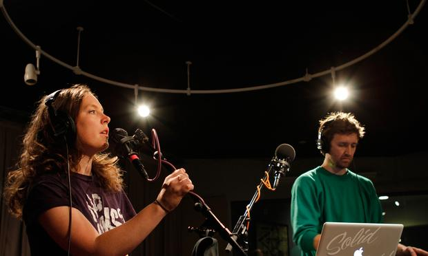 Sylvan Esso performs in the Soundcheck studio.