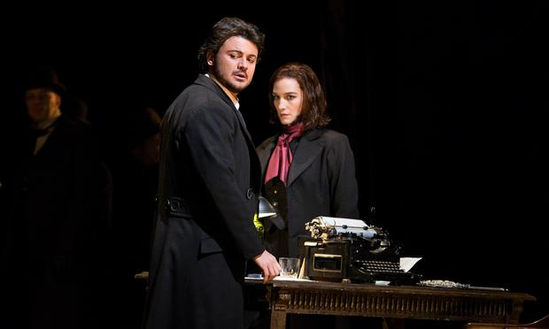 Vittorio Grigolo in the title role and Kate Lindsey as Nicklausse in Offenbach's 'Les Contes d'Hoffmann.'