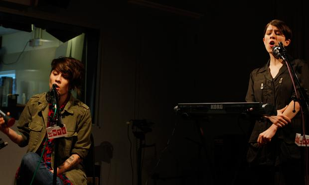 Tegan and Sara perform in the Soundcheck studio.
