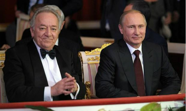 Vladimir Putin and Yuri Temirkanov at a gala for the 75th anniversary of the conductor in December