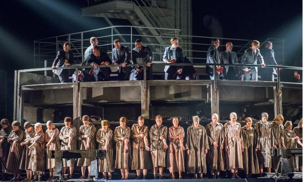A scene from the Houston Grand Opera dress rehearsal of 'The Passenger,' taken 1/15/14, to be co-presented by Lincoln Center Festival and Park Avenue Armory July 10, 12 and 13, 2014.