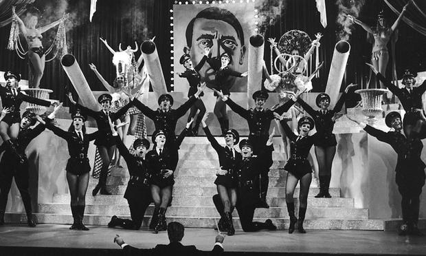 'Springtime For Hitler' from Mel Brooks film and Broadway musical The Producers is likely the funniest song to deal with Hitler.