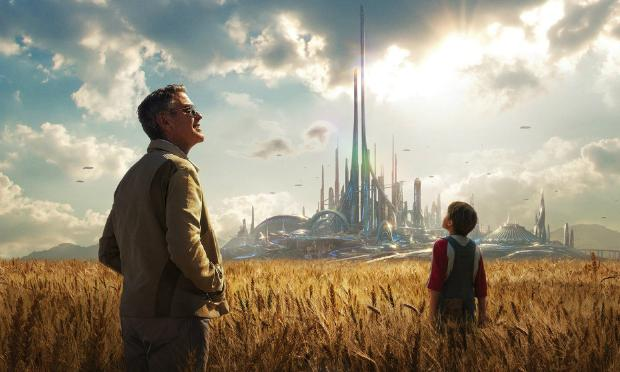 George Clooney and Britt Robertson in 'Tomorrowland'
