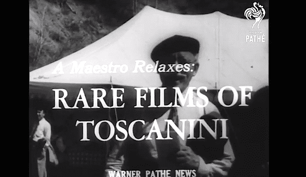 Toscanini footage from the Pathe Newsreel Archive