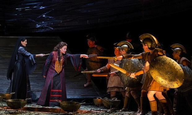 A scene from Berlioz's 'Les Troyens' at the Metropolitan Opera.