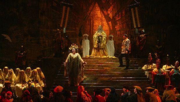 The Jonathan Eaton and Beni Montresor production of Puccini's Turandot at New York City Opera