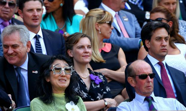 Mitsuko Uchida and Prince Edward, Duke of Kent, at the Wimbledon Final on July 7, 2013
