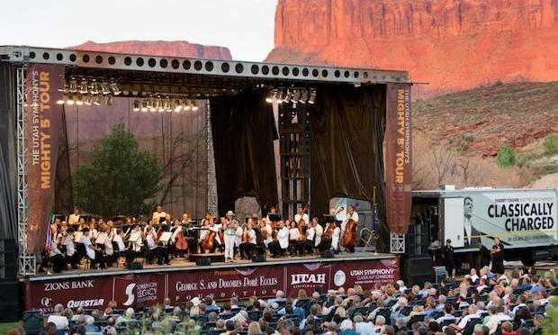 Utah Symphony performs at the Red Cliffs Lodge in Moab, UT
