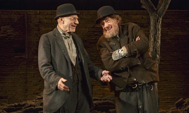 Patrick Stewart and Ian McKellen in 'Waiting for Godot.'