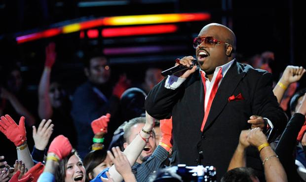 Cee Lo gets a break from judging to belt out a song himself on NBC's The Voice.