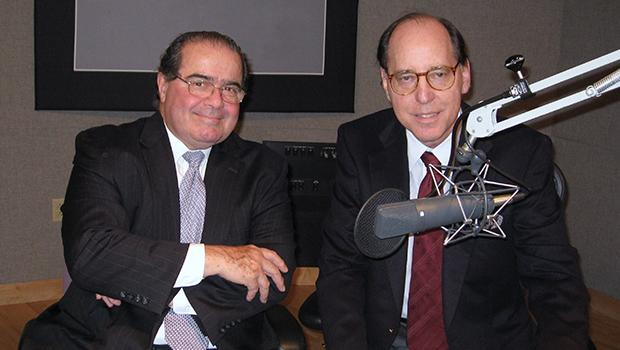 Supreme Court Justice Antonin Scalia with Mad About Music host Gilbert Kaplan.