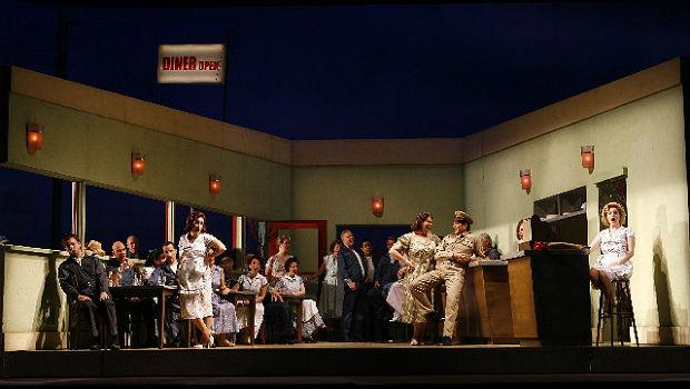 The Jonathan Miller production of 'L'Elisir d'Amore' at NYC Opera