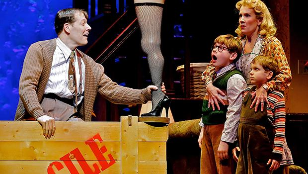 John Bolton, Johnny Rabe, Erin Dilly and Zac Ballard in 'A Christmas Story, The Musical.'