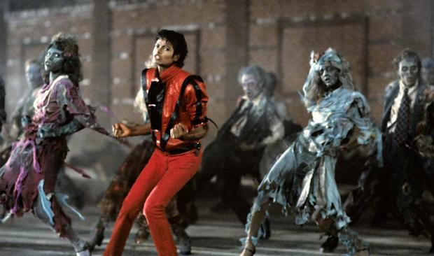 Michael Jackson in the music video for 'Thriller.'