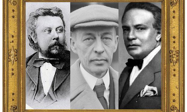 Mussorgsky, Rachmaninoff, Respighi.