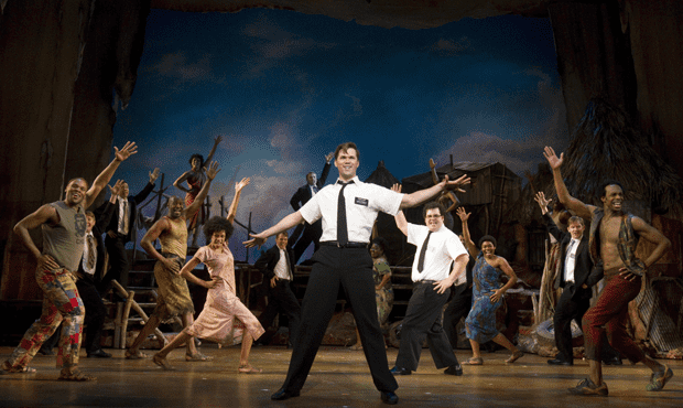 The cast of the Broadway production of The Book of Mormon