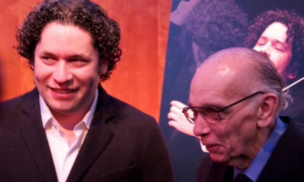 Gustavo Dudamel and José Antonio Abreu at the Musical America Awards at Lincoln Center, Dec. 6, 2012