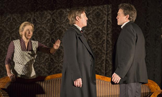 Kathleen McNenny (left to right),  Richard Thomas and Boyd Gaines in Manhattan Theatre Club's 'An Enemy of the People.'