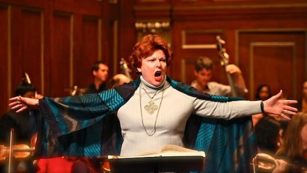 Mezzo-soprano Joyce Castle in 'The Midsummer Marriage' (dress rehearsal)