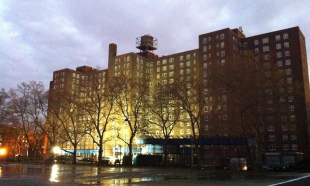 A public housing complex in Red Hook, Brooklyn, that lost power during Sandy.
