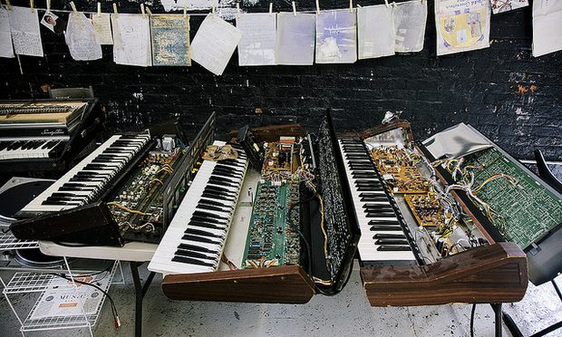 Vintage synthesizers destroyed by Hurricane Sandy