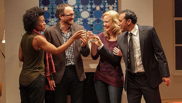 Karen Pittman (lef to right), Erik Jensen, Heidi Armbruster and Aasif Mandvi in 'Disgraced.'
