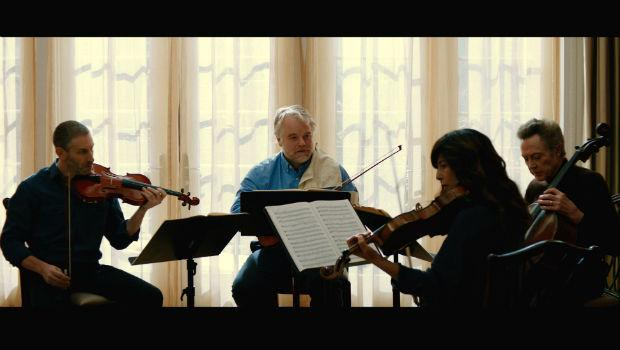 Philip Seymour Hoffman, Christopher Walken, Catherine Keener and Mark Ivanir in 'A Late Quartet'