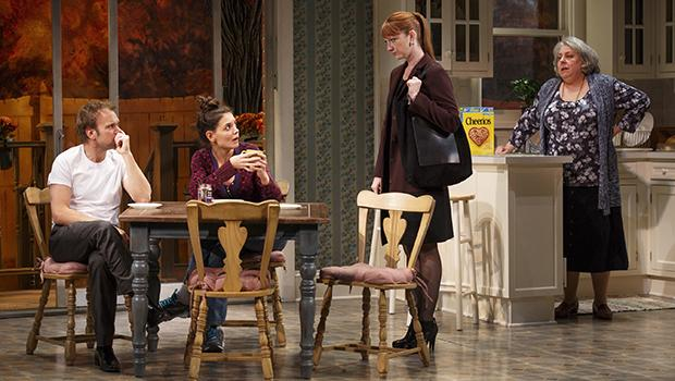 Norbert Leo Butz (left to right), Katie Holmes, Judy Greer and Jayne Houdyshell in 'Dead Accounts.'