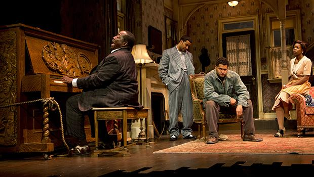 Chuck Cooper (left to right), Jason Dirden, Brandon Dirden and Roslyn Ruff in 'The Piano Lesson.'