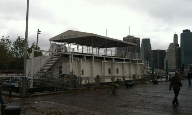 Bargemusic stays secure during Hurricane Sandy