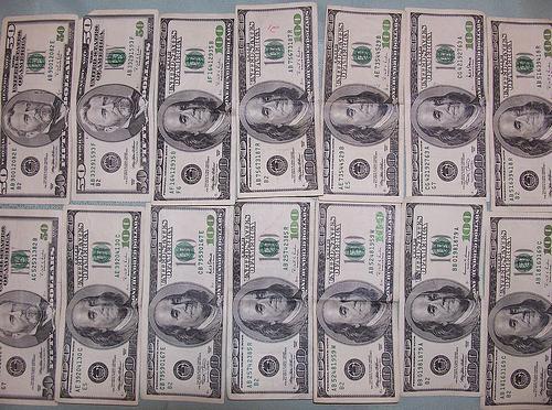 money, 100 dollar bills