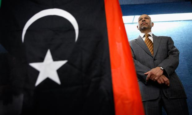 Libya's ambassador to the United States Ali Sulaiman Aujali holds a news conference at the National Press Club March 18, 2011