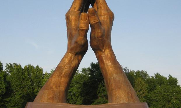 Iconic statue on the campus of Oral Roberts University