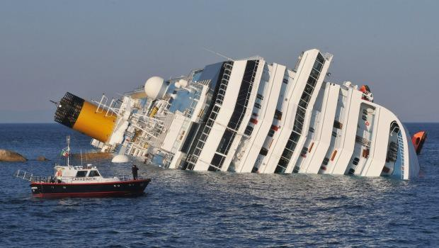 The cruise ship Costa Concordia lies stricken off the shore of the island of Giglio, on January 14, 2012.