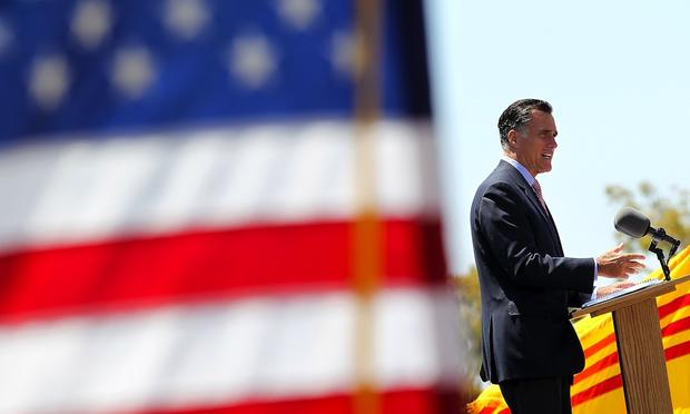 Mitt Romney at a Memorial Day event in San Diego