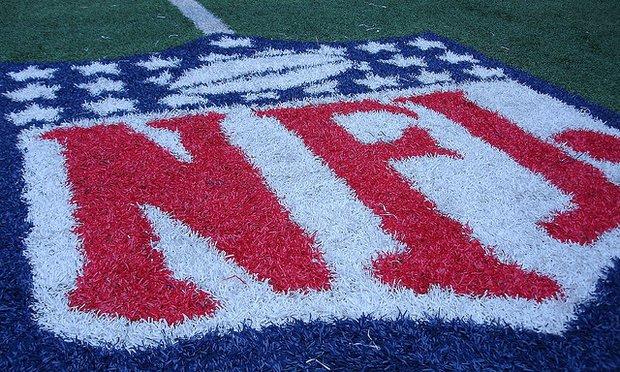 NFL Logo on the astroturf.