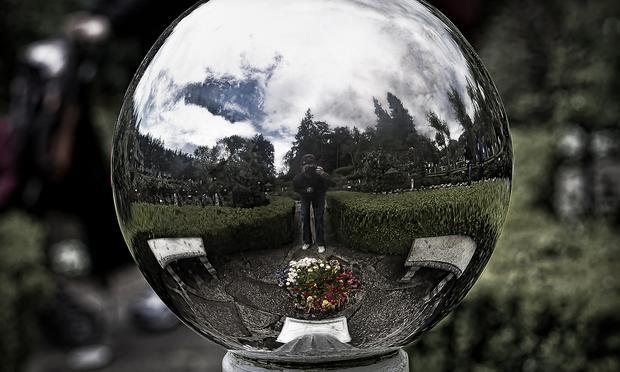 Crystal ball, Butchart Gardens
