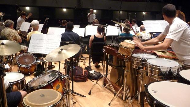 American Composers Orchestra in Rehearsal