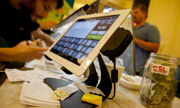 iPad cash register at Ample HIlls Creamery in Prospect Heights, Brooklyn.